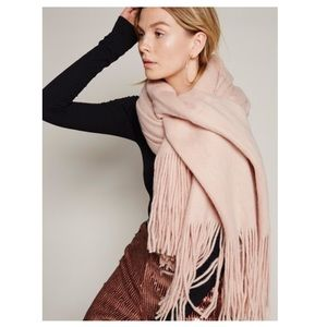 NWT Free People Kolby Brush Nude Scarf